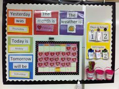 Guest Post: A Differentiated Calendar Routine - The Autism Helper Life Skills Classroom, Autism Classroom, Special Education Classroom, Classroom Setup, Classroom Displays, Preschool Classroom, Classroom Organization, In Kindergarten, Kindergarten Calendar
