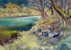At the River, oil on canvas