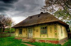 An authentic traditional house from Suceava County (Bukovina region), ROMANIA 3 frames HDR via Photomatix Traditional Doors, Traditional House, Beautiful Places To Visit, Peaceful Places, Stone Houses, Bucharest, Cozy Cottage, Eastern Europe, Day Trip