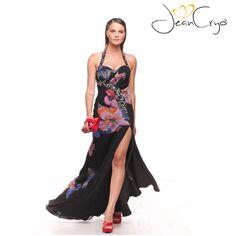 #dress #longdress #abitolungo #elegance #fashion #springsummer2015 #specialoccasion #woman #look #outfit #style #moda #partydress #bridesmaid #black #flowers #fantasy #cutdress