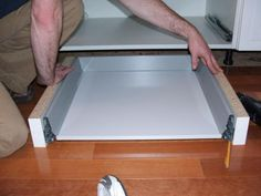 creating toe kick drawer for ikea cabinets