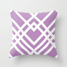 """""""Perfect Purple"""" Throw Pillow from Society6 for your Home Decor #purple #2016 #violet #babyshower #beautiful #spring #springcolors #march #purplewedding #purplegift #gift #giftforher #orchid #lavender #white #graphicdesign #society6 #online #shop #geo #geometric #plum #college #dorm"""
