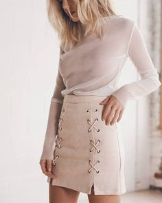 nudes  gateu top & noughts + crosses skirt available via link in bio. #styleaddict.com.au