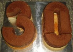 How to carve a 30 cake
