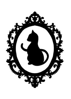 Elegant black cat tattoo