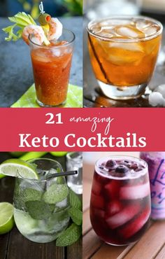 21 Keto Cocktails: The Best Keto Alcoholic Drinks 21 amazing keto cocktails and mixed drinks to enjoy on the keto diet. Yes, you can have alcohol on the keto diet, and here are the best low-carb cocktail recipes. Low Carb Cocktails, Best Diet Drinks, Healthy Drinks, Healthy Food, Healthy Eating, Paleo Food, Healthy Smoothies, Paleo Diet, Smoothie Recipes