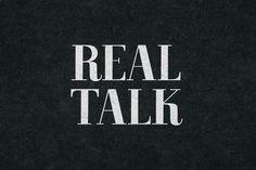 Real Talk by BLKBK on @creativemarket