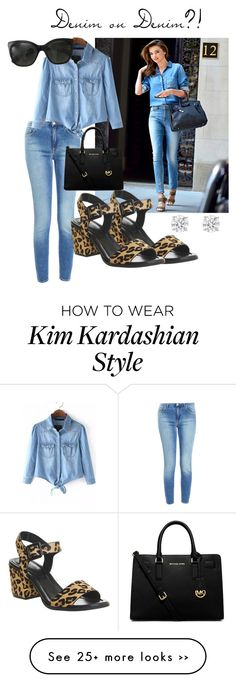 """Miranda Kerr // Denim on Denim"" by lopinslow14 on Polyvore featuring Kerr®, Acne Studios, Office, MICHAEL Michael Kors and Chanel"