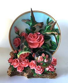 Hummingbird Pink Roses 45mm Diameter Globe And Plate >>> Check this awesome product by going to the link at the image.