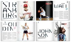 Client: ESPN Year: 2010 Type treatments for the NEXT Issue of ESPN.