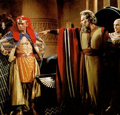 Charlton Heston and Yul Brynner - The Ten Commandments, 1956