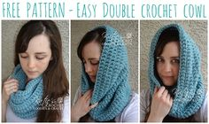 Check out this Free Easy Double Crochet Cowl Pattern, perfect for beginners!