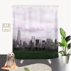 A personal favorite from my Etsy shop https://www.etsy.com/listing/230163667/manhattan-skyline-shower