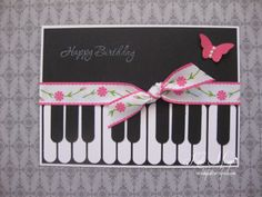 Piano Handmade Card, Stampin Up