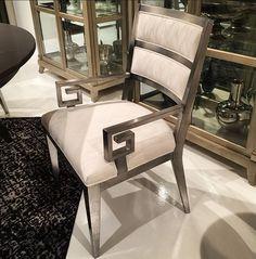 dining chair in silver leaf finish. #hpmkt #spring2015 #swoon #liveinstyle #ibbdesign #dallasdesign #furniture #design #silver #metallic