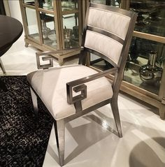 dining chair in silv