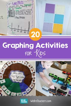 20 Graphing Activities For Kids That Really Raise the Bar. Data collection and graphing have a lot of real world applications, so they're key skills for kids to master. These creative graphing activities will help! Graphing Activities, Stem Activities, Activities For Kids, Scatter Plot Graph, Circle Graph, Pie Graph, We Are Teachers, Math Anchor Charts, Reading Specialist