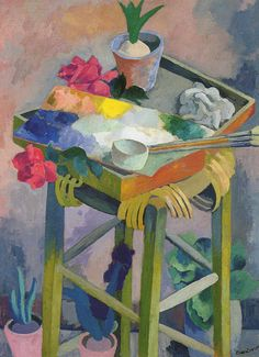 "Jan Wacław Zawadowski (Zawado) ""Palette"", 1914-18, oil on canvas"