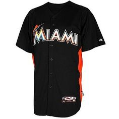 69ff3ad4d MLB Authentic Cool Base Miami Marlins Baseball Jersey New Mens Size  XX-LARGE Marlins Baseball