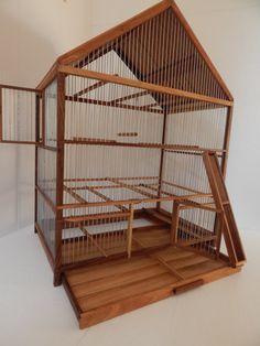 Handmade Wooden Birdcage by birdworld77 on Etsy