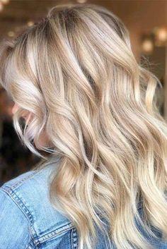 Blonde Hair Looks, Blonde Hair With Highlights, Brown Blonde Hair, Blonde Long Hair Cuts, Highlighted Blonde Hair, Dark Hair, Highlighted Hairstyle, Cream Blonde Hair, Blonde Foils