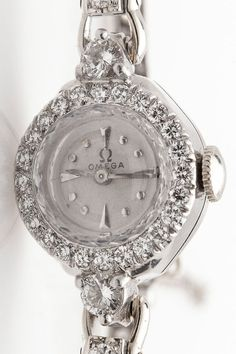 Vintage 1950s $6000 OMEGA 1.25ct VS G Diamond Platinum Ladies Watch WARRANTY   Jewelry & Watches, Watches, Parts & Accessories, Wristwatches   eBay!