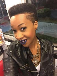 Tapered Fade, twa, side part, low cuts, natural hair, black women, hair cut, big chop, @lyssespooh88