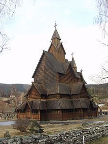Esglesia de fusta de Heddal, Telemark, Noruega (1275-1300) Heddal stavkirker Norge