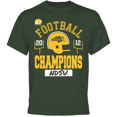 North Dakota State Bison 2012 MVC Football Champions T-Shirt - Green