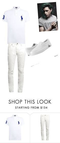 """""""White Magic"""" by kghaygood ❤ liked on Polyvore featuring Polo Ralph Lauren, Yves Saint Laurent, Zipz, men's fashion and menswear"""