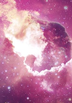 Pink Galaxy Pink Stars, Pink Sky, Pink Galaxy, Star Sky, Colour Board, Sky And Clouds, Drawing Reference, Homescreen, Favorite Color