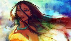 Pocahontas #illustration #disney