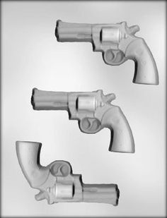 3 Revolver Guns Candy Molds   Plastic Mold For by SupplyCrate, $8.00