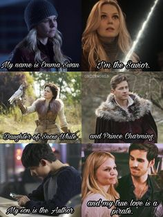 ideas funny things for teens so me for 2019 Once Upon A Time Funny, Once Up A Time, Ouat Cast, Hook And Emma, Killian Jones, Tv Couples, Colin O'donoghue, Jennifer Morrison, Book Tv