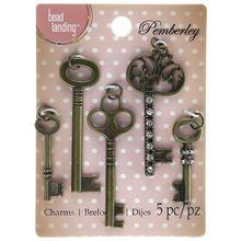 Pemberley Gold Key Charms By Bead Landing™