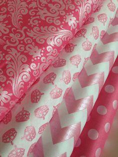 Hollywood Sparkle Princess Pink Fabric Bundle by Riley Blake Fabrics- Yard bundle- 4 total on Etsy, $42.00