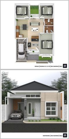 Small House Layout, Modern Small House Design, House Layout Plans, Home Modern, Modern House Plans, Small House Plans, House Layouts, Sims House Design, Bungalow House Design