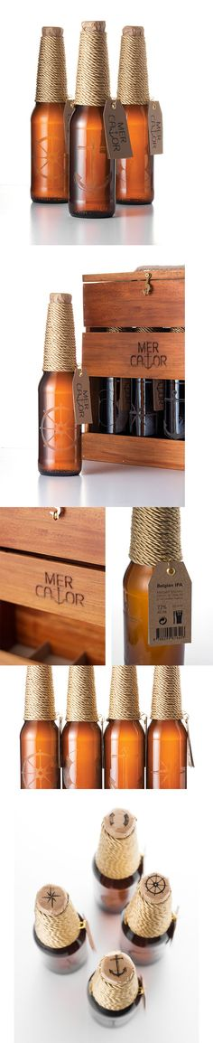 """Mercator - beer"", a project on @Behance http://www.packagingserved.com/gallery/Mercator-beer/5219149"