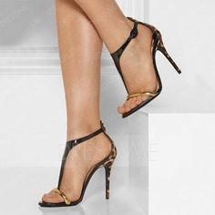 #AdoreWe #DressWe DressWe Chic T-Straps Open Toe Stiletto High Heels Sandals - AdoreWe.com