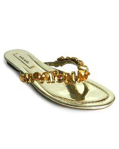 RASTEIRA COM PEDRAS DOURADAS |Bella Bella Shoes
