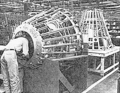 Manufacture of Mercury spacecraft at McDonnell plant, St. Louis, Mo.