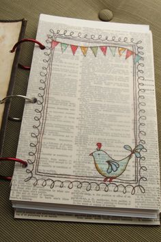 Tutorial for Pre-doodled journal pages... VERY COOL!!!