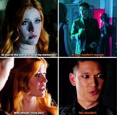 Clary & Magnus & the looming sense of mistrust.