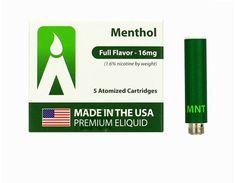 Volcano e-cigarette USA-Made MAGMA Prefilled Cartomizers - Menthol, www.powersmoke.com Usa, How To Make, U.s. States