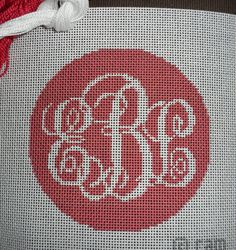 Script Monogram Needlepoint by Designedbycam on Etsy, $35.00