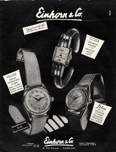 Einhorn & Co. (Watches) 1950 Relide,Titus, Felco