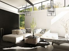 Decorating tip! You can't go wrong with white space. Lighting Showroom, Beautiful Color Combinations, White Space, Decorating Tips, Inspiration, Home Decor, Living Room, Colors, House