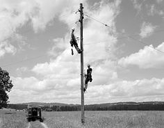 photo by Joël Tettamanti.    my dad's a telephone worker like these folks.