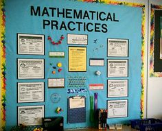 My new CCSS Mathematical Practices board/center.