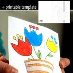 3D+spring+card Spring Crafts For Kids, Projects For Kids, Art For Kids, Arts And Crafts, Paper Crafts, Card Making Tutorials, Art N Craft, Mother's Day Diy, Spring Art